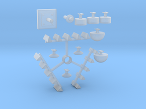 Cell Tower Components in Smooth Fine Detail Plastic