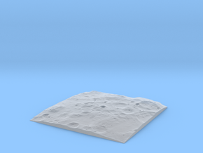 Terrain Model Lunar South Pole in Smooth Fine Detail Plastic