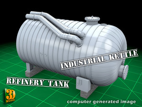 Industrial Kettle 1/35 in Smooth Fine Detail Plastic