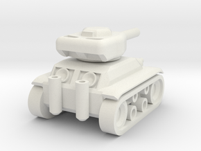 Panzer 74' in White Natural Versatile Plastic