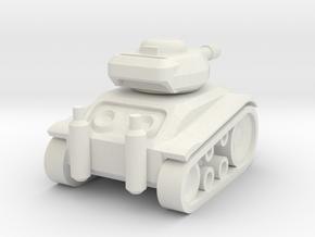 Panzer '68 Mini in White Natural Versatile Plastic