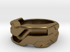US7 Ring XXI: Tritium (Silver) in Natural Bronze
