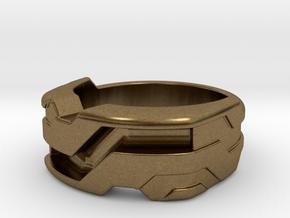 US8.5 Ring XXI: Tritium (Silver) in Natural Bronze