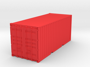 Container 115mm in Red Strong & Flexible Polished