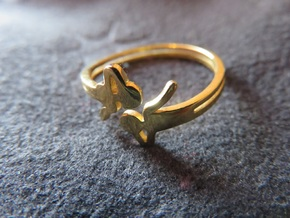 Airy Ring in 18k Gold Plated Brass