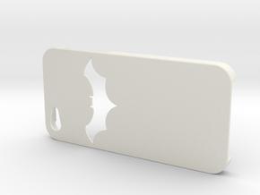 Batman Design Iphone 5   in White Natural Versatile Plastic