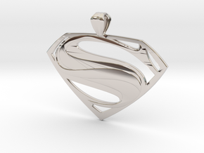 Man Of Steel - Pendant in Rhodium Plated Brass
