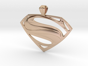 Man Of Steel - Pendant in 14k Rose Gold Plated Brass
