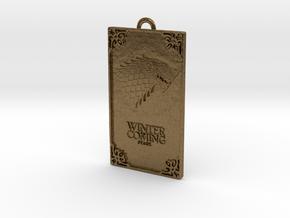 Game of Thrones - Stark Pendant in Natural Bronze