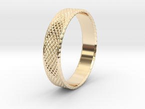 0101 Lissajous Figure Ring (Size9.5, 19.4mm) #002 in 14k Gold Plated Brass