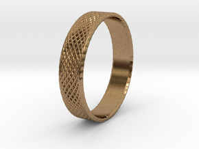 0101 Lissajous Figure Ring (Size9.5, 19.4mm) #002 in Natural Brass