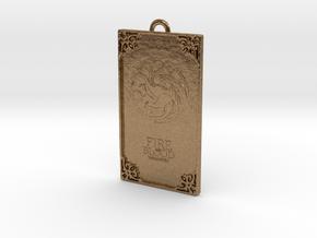 Game of Thrones - Targaryen Pendant in Natural Brass