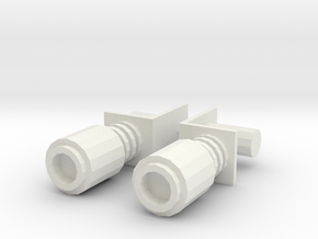 CW Windcharger Magnets in White Natural Versatile Plastic