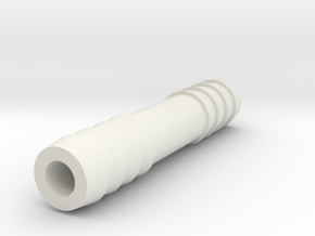 3/8 Inch Hose Barb in White Strong & Flexible