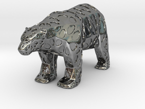 Polarbear in Fine Detail Polished Silver