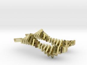 XVII² + XVII² Earrings in 18k Gold Plated Brass