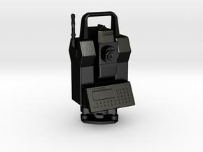 "Geodimeter 600 robot key fob 1.5"" in Matte Black Steel"