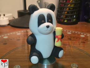 Graduation Panda (8cm) in Full Color Sandstone