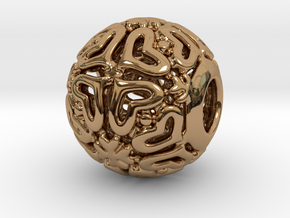 PA CharmV1D14SE84 in Polished Brass