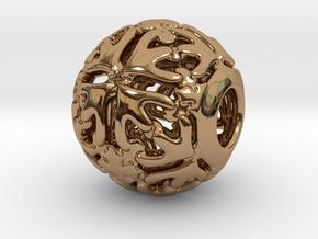 PA CharmV1D14SE74 in Polished Brass