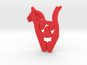 "Clip ""Stockholm's horse"" in Red Strong & Flexible Polished"