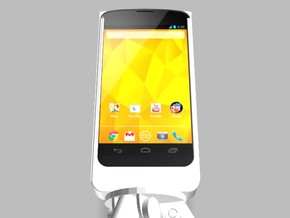 Nexus 4 Camera Mount 5000mah Charger USB Power in White Strong & Flexible