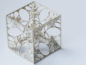 Snowflake Cube in Natural Silver