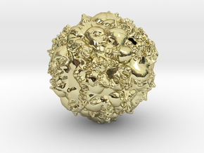Earth 2500 AD in 18k Gold Plated Brass