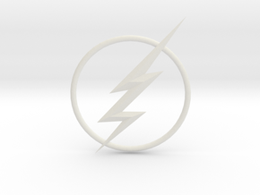 The Flash CW Chest Bolt Circle in White Natural Versatile Plastic