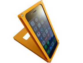 iPhone Flick Cover in Orange Strong & Flexible Polished