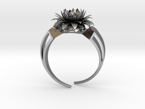 Aster Ring Stl in Fine Detail Polished Silver