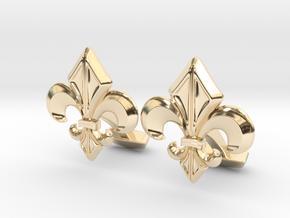 Gothic Cufflinks in 14K Yellow Gold
