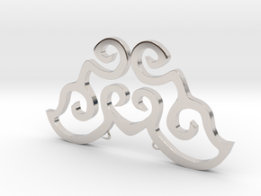 Love is a butterfly in Rhodium Plated Brass