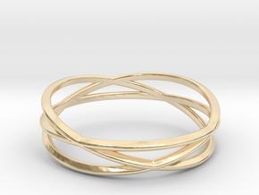 ASNY Tri Swirl Bracelet in 14K Yellow Gold