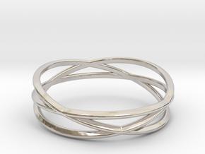 ASNY Tri Swirl Bracelet in Rhodium Plated Brass