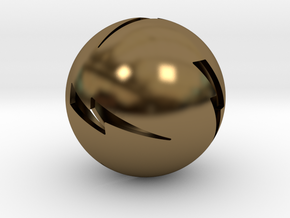 Lightning Ball! in Polished Bronze