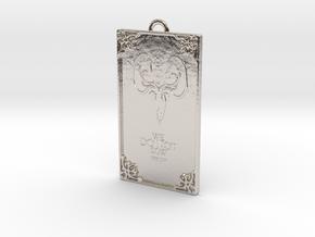 Game of Thrones - Greyjoy Pendant in Rhodium Plated Brass