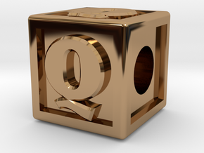 "Name Pieces; Letter ""Q"" in Polished Brass"