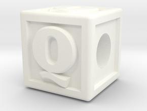"""Name Pieces; Letter """"Q"""" in White Processed Versatile Plastic"""