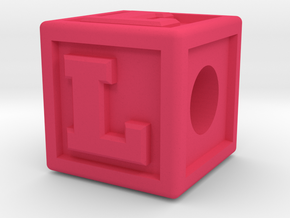 """Name Pieces; Letter """"L"""" in Pink Processed Versatile Plastic"""