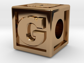 "Name Pieces; Letter ""G"" in Polished Brass"