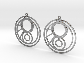 Jemma - Earrings - Series 1 in Fine Detail Polished Silver