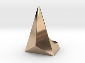 Golden Ratio Triangle Ring: Sz7 in 14k Rose Gold Plated Brass