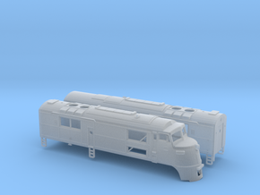 N Scale CNJ Baby-faced Baldwin A and B unit in Smoothest Fine Detail Plastic
