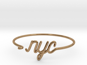 NYC Wire Bracelet (New York City) in Polished Brass