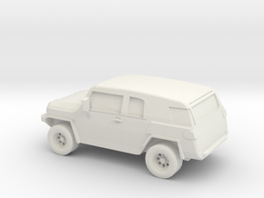 1/87 2006 Toyota FJ Cruiser  in White Natural Versatile Plastic