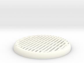 Sci-Fi Miniature Base 33mm in White Processed Versatile Plastic