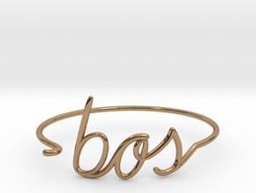 BOS Wire Bracelet (Boston) in Polished Brass