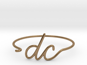 DC Wire Bracelet (Washington, D.C.) in Natural Brass