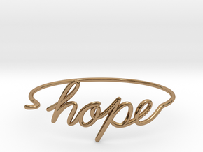 Hope Wire Bracelet in Polished Brass